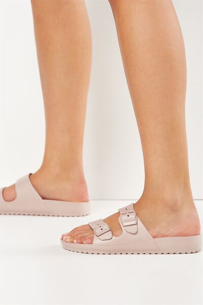 Gilmore Double Buckle Slide, DUSTY ROSE