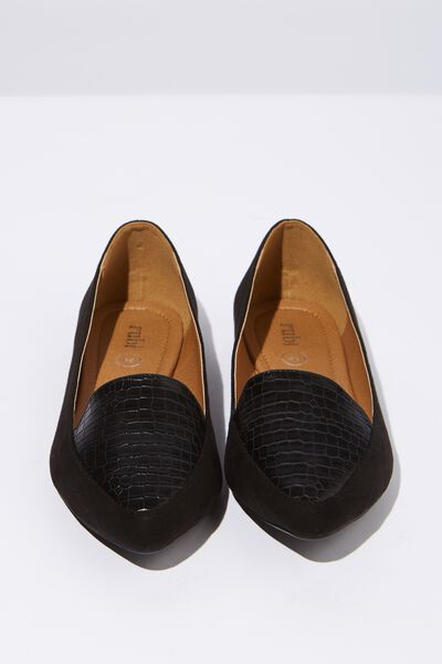 Peta Point Loafer, BLACK CROC EMBOSS MULTI