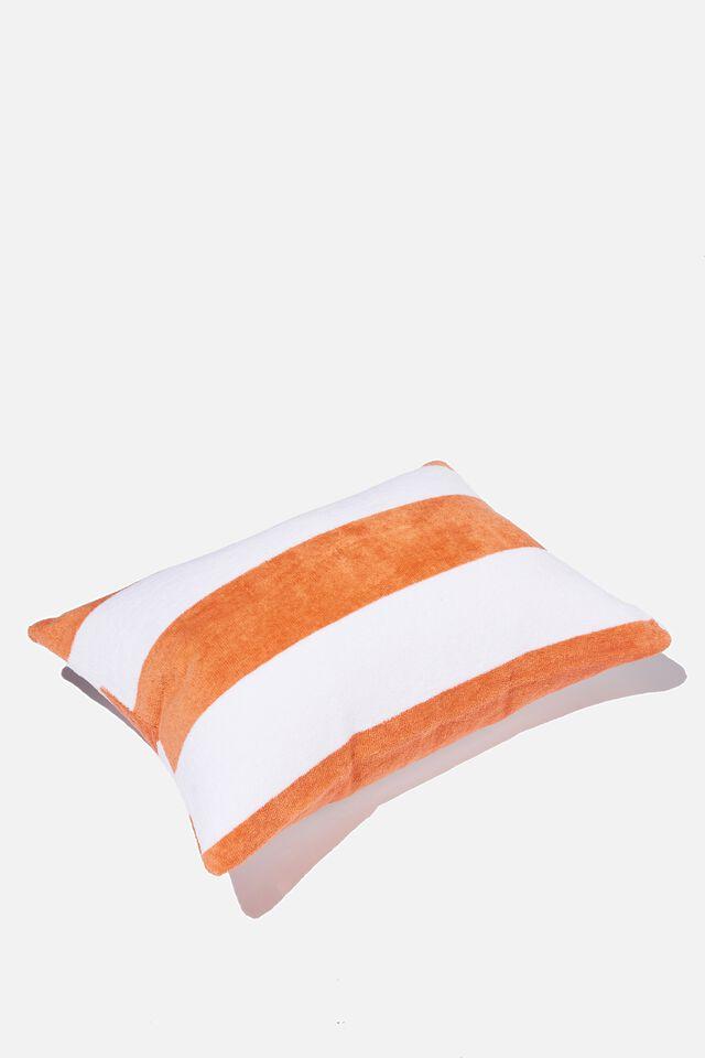 Fairhaven Beach Pillow, HONEY PINK STRIPE