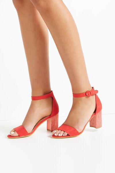 Mambo Flared Heel, RED