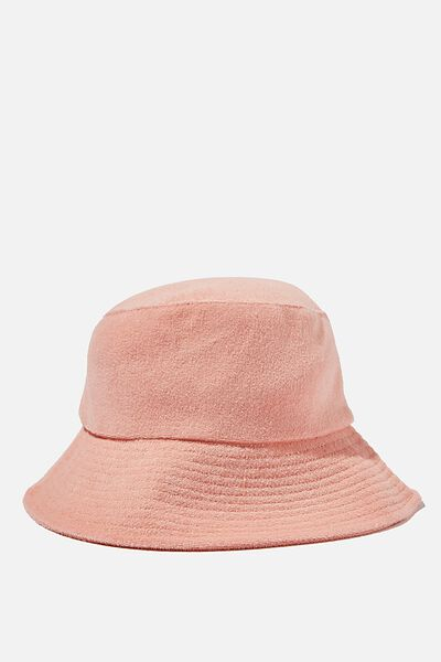 Bianca Bucket Hat, CALI PINK TERRY