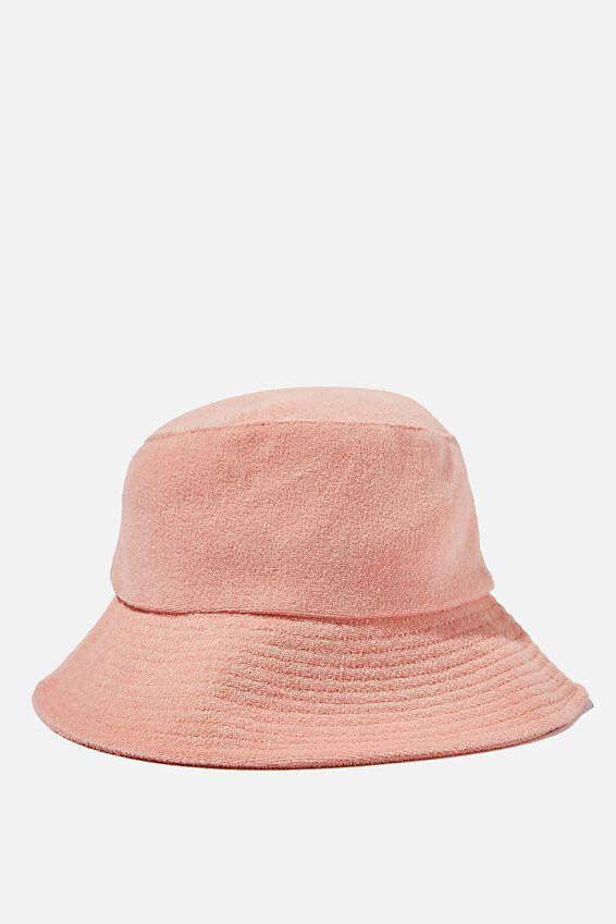 Bianca Bucket Hat, CALI PINK TERRY
