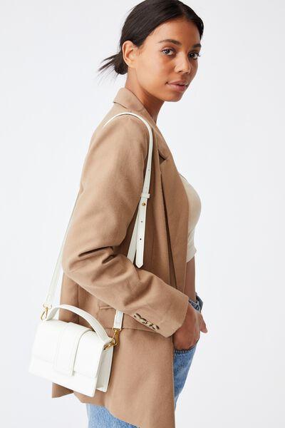 Cindy Cross Body Bag, WHITE