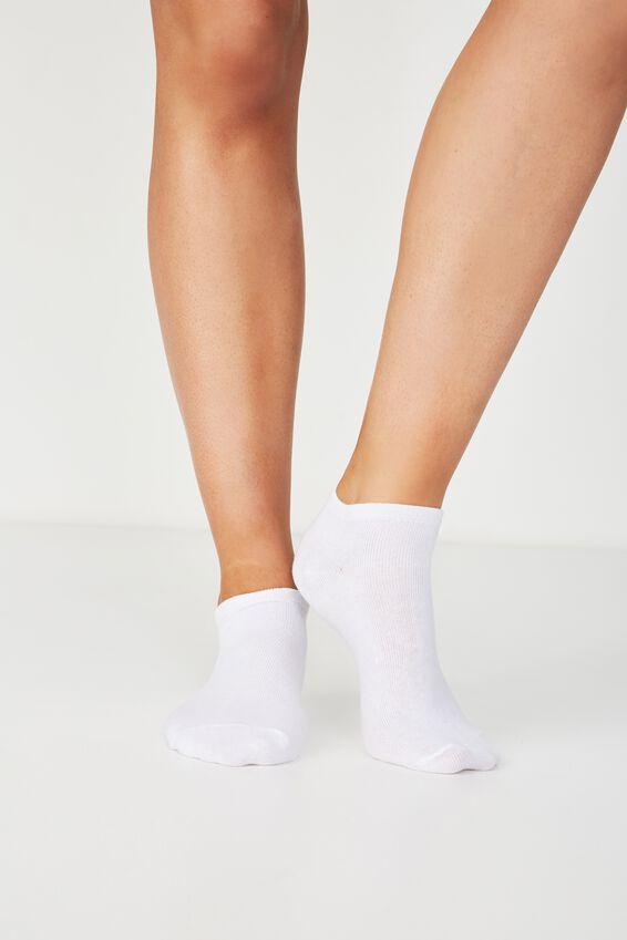 Bd 3Pk Ankle Sock, WHITE