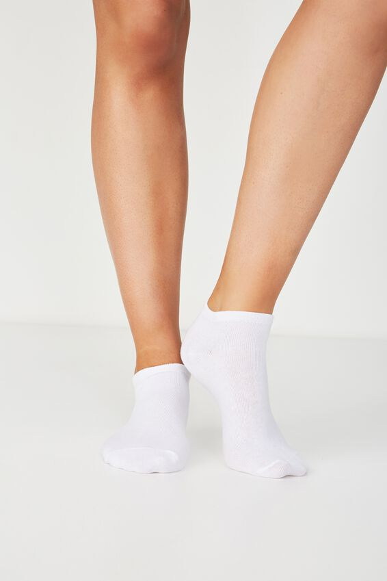 Bd 3Pk Ankle Sock, WHITE