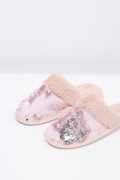 Sequin Slipper, PINK SEQUIN