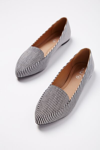 Peta Point Loafer, BLACK STRIPE MULTI