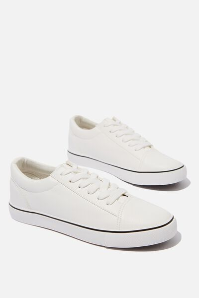 Joey Toe Cap Low Rise, WHITE PU