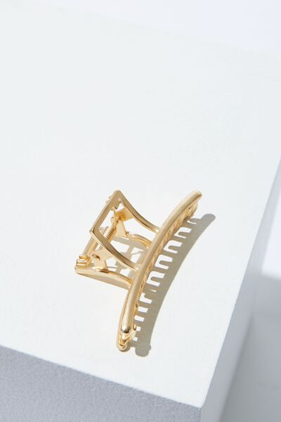 Ariel Geometric Hair Claw, GOLD
