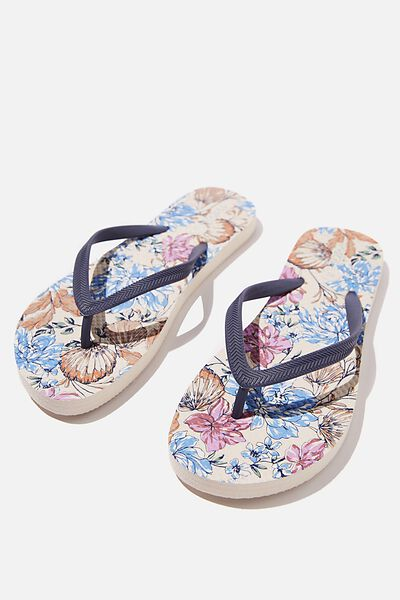 The Rubi Flip Flop, LIGHT KAIA FLORAL SHELL