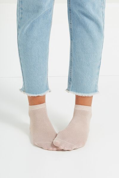 Dorothy Sparkle Sock, BLUSH PINK