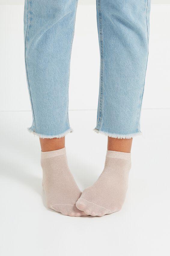 Dorothy Sparkle Sock, BLUSH PINK