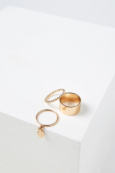 Carolina Ring Set, GOLD