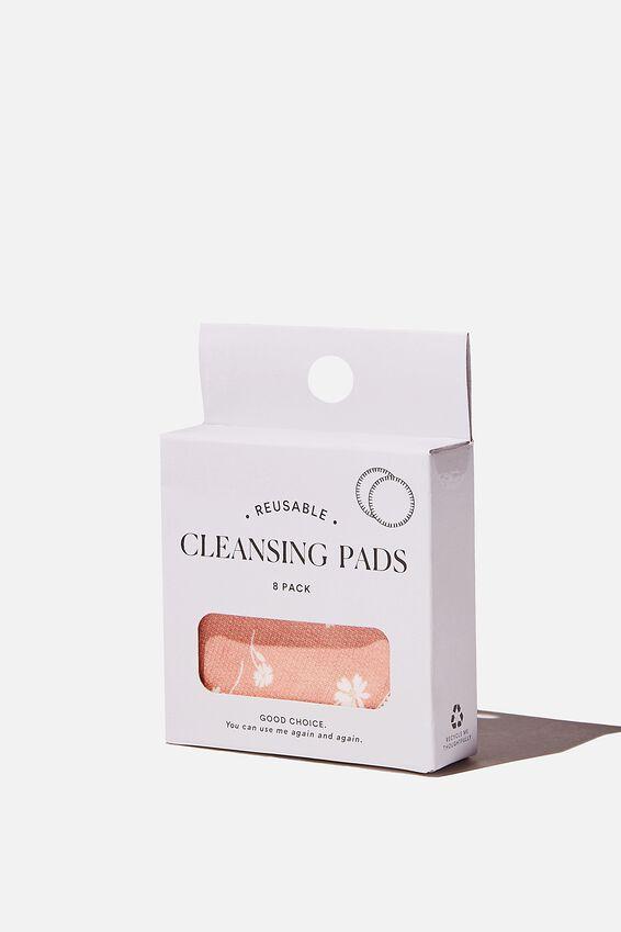 Reusable Cleansing Pads 8Pk, ADELE DAISY/DUSK BLUSH