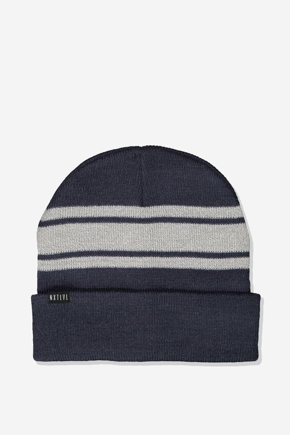 Everyday Beanie, NAVY PLACEMENT STRIPE