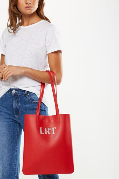 Personalised Work It Mini Tote, RED