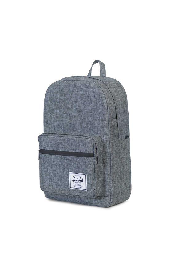 Herschel Pop Quiz Backpack, RAVEN CROSSHATCH