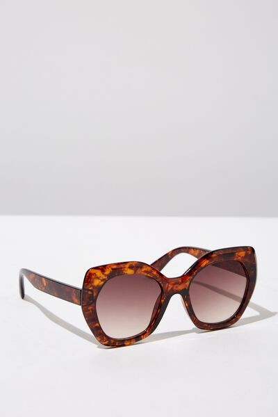 Kourtney Sunglass, TORT/BROWN GRAD