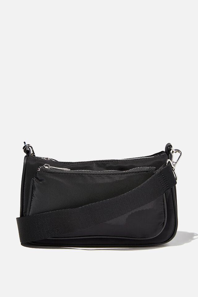 Nadine Cross Body Bag, BLACK