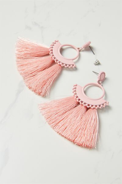 Funky Fan Earring, PARFAIT PINK