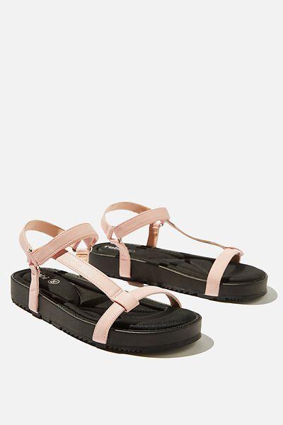Malmo Flatform Sporty Sandal, BLUSH PINK PU