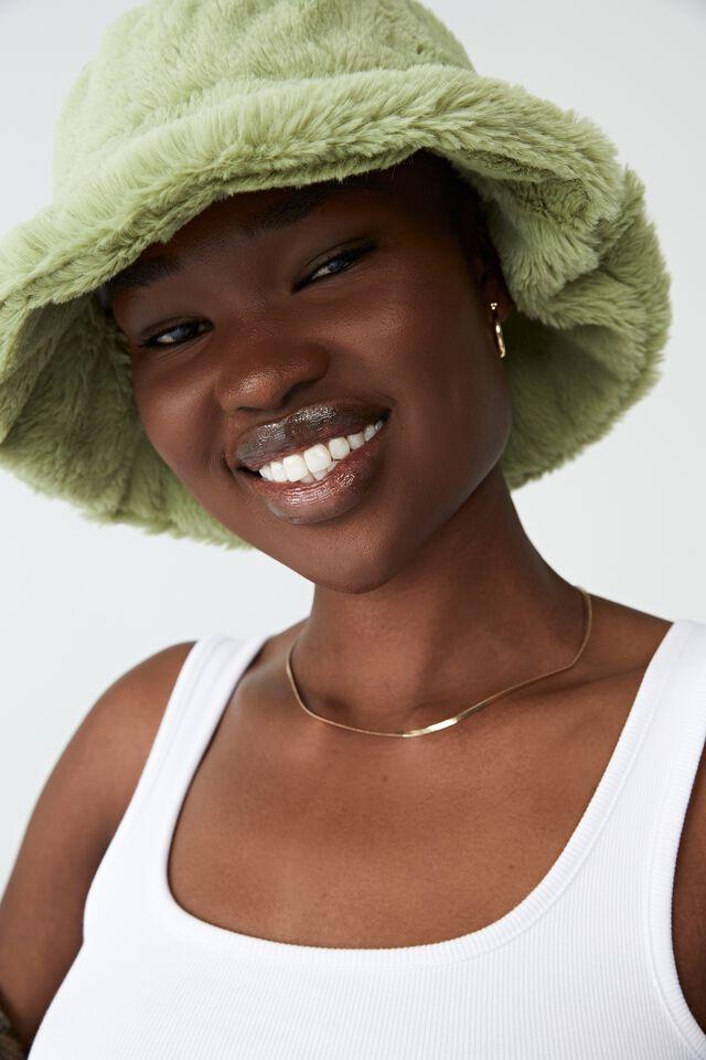 Bianca Bucket Hat, RETRO GREEN FLUFFY