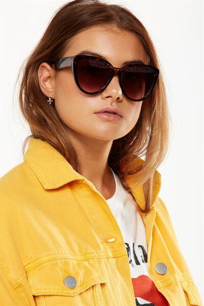 Clem Top Bar Sunglasses, TORT