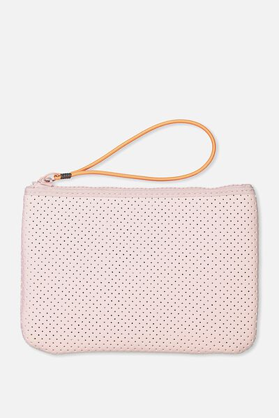 Active Perforated Clutch, BLUSH