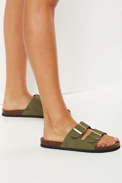 Rex Double Buckle Slide, KHAKI