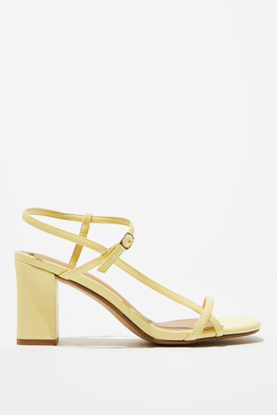 Hannah Thin Strap Heel, PALE YELLOW