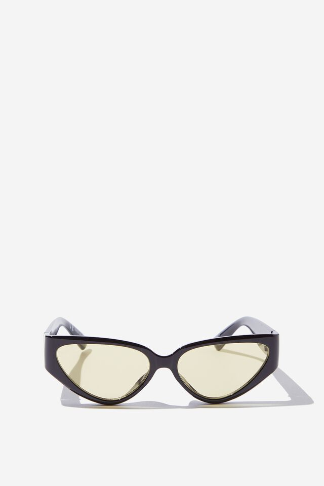 Molly Cateye Sunglasses, BLACK/YELLOW