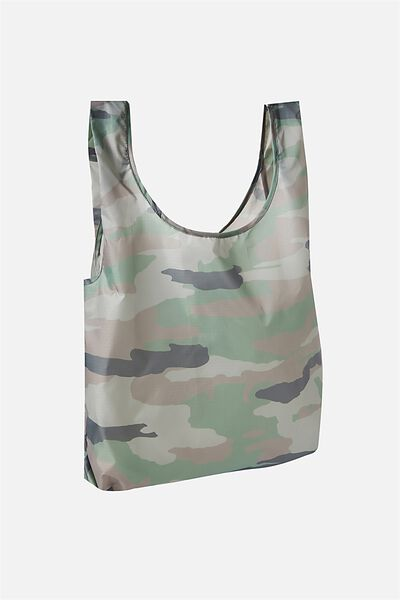 Foldable Market Bag, CAMO PRINT