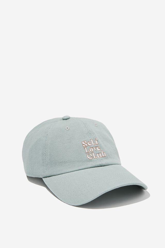 Classic Dad Cap, SOFT TEAL/SELF LOVE CLUB