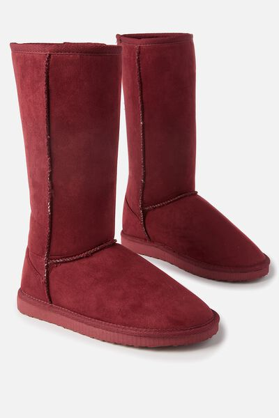 Tall Home Boot, ROSE WOOD