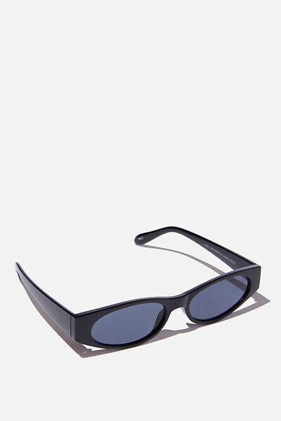 Luna Low Profile Sunglasses, BLACK