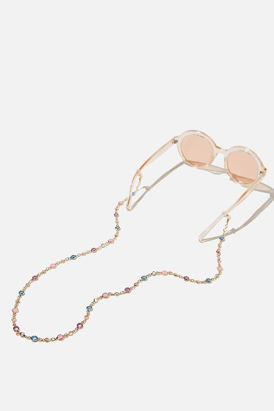 Ava Glasses Chain, PASTEL MULTI GEM