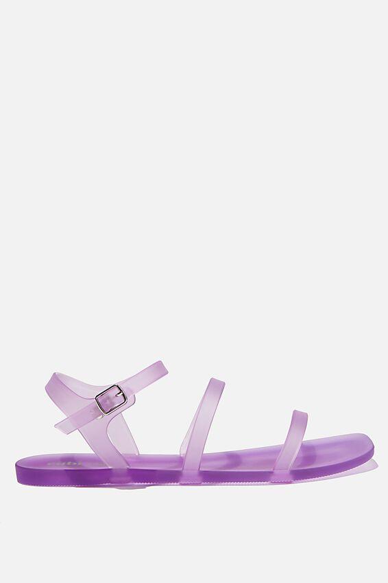 Triple Strap Jelly Sandal, LILAC