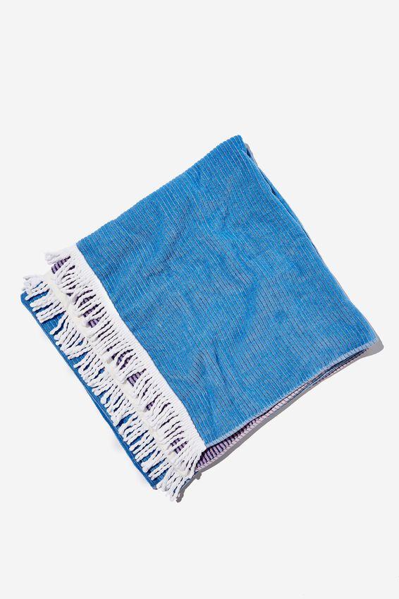 Bondi Rectangle Towel, LILAC COLOUR BLOCK