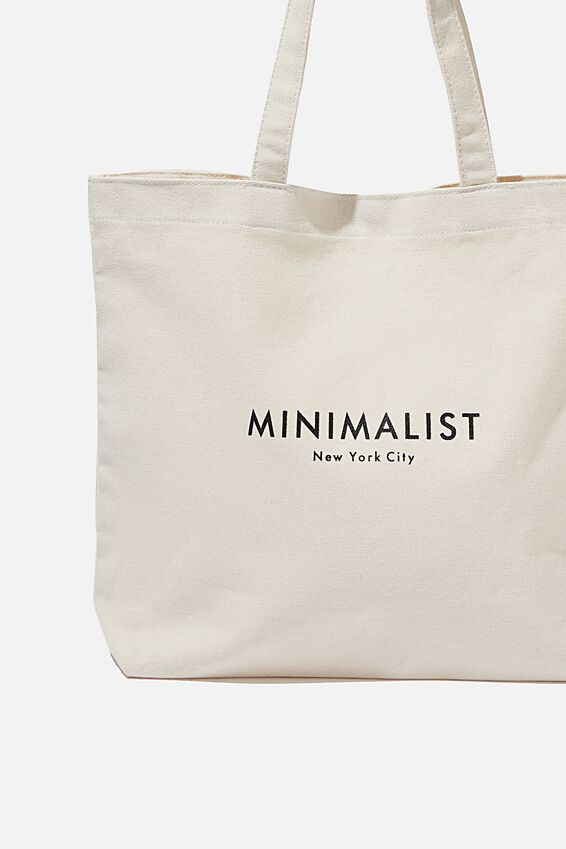 Minimalist Washed Tote, NATURAL