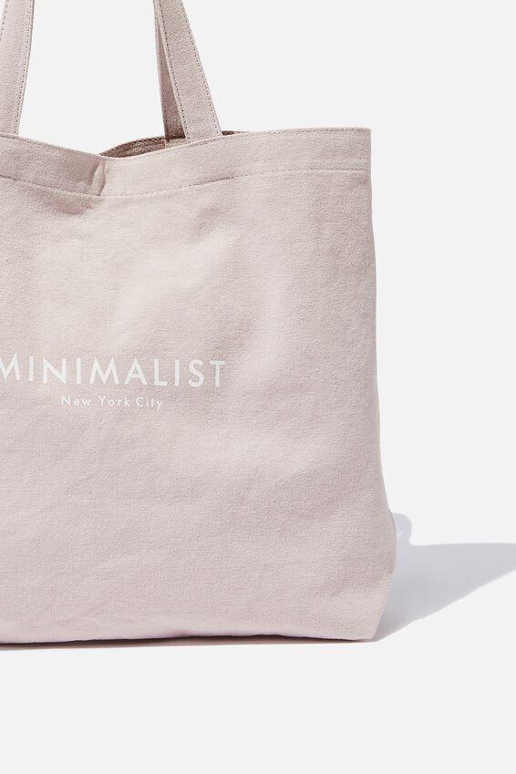 Minimalist Washed Tote, LILAC