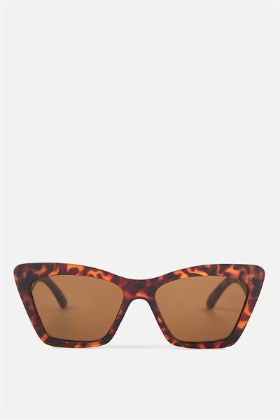 Chicago Slim Frame Cat Eye Sunglasses, M.CRY TAFFY