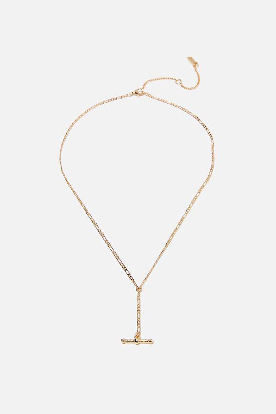 Premium Pendant Necklace, GOLD PLATED FOB LARIET