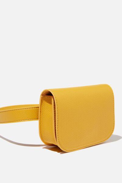 Aimee Rectangle Belt Bag, MUSTARD