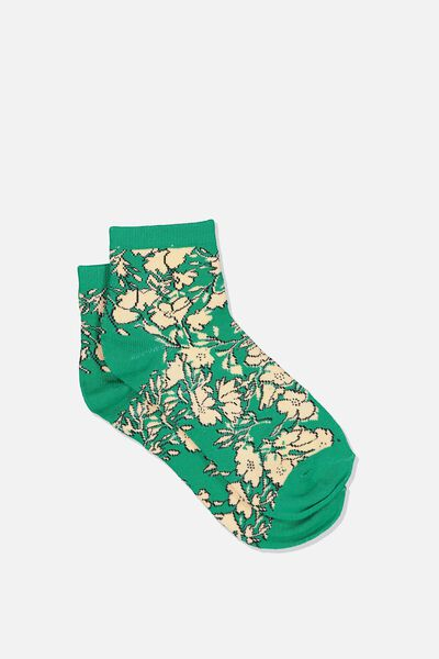 Fun Sock, TOSSED FLORAL