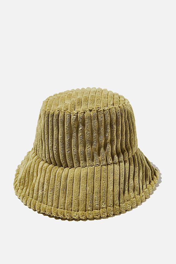 Bianca Bucket Hat, PISTACHIO GREEN WIDE CORD