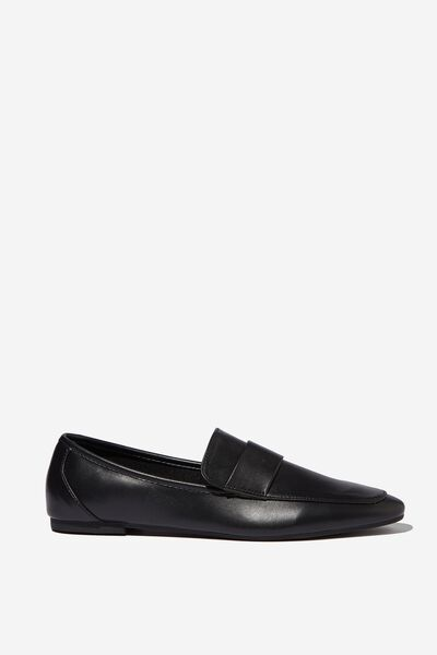 Classic Slim Loafer, BLACK PU