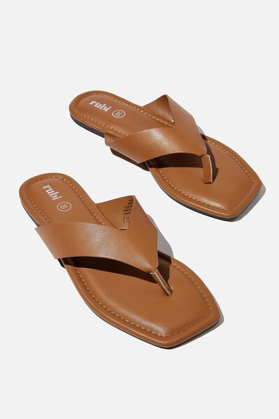 Everyday Molly Toe Post Sandal, TAN SMOOTH PU