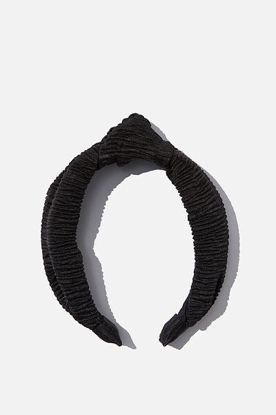 Nadia Knot Headband, BLACK