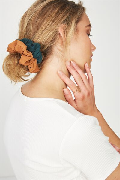 2Pk Scrunchie, JUNE BUG/RUST