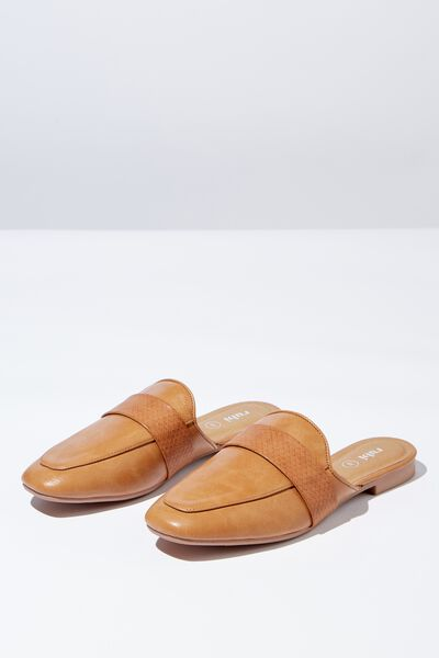 Aish Loafer Mule, TAN
